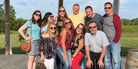 Zimmet Group team on Finger Lakes wine tour