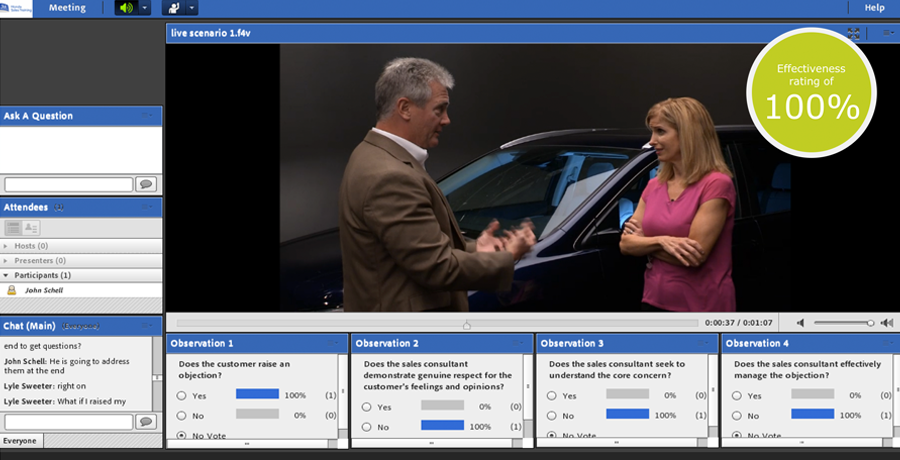 Screen capture of Honda Webinar