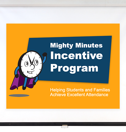 Series of screens from the Mighty Minutes presentation