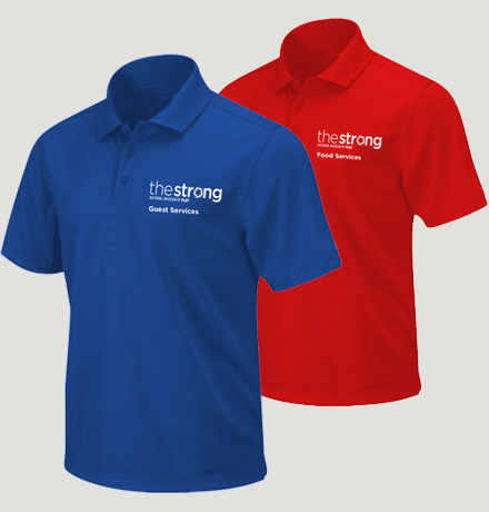 Redesign t-shirts worn by The Strong staff