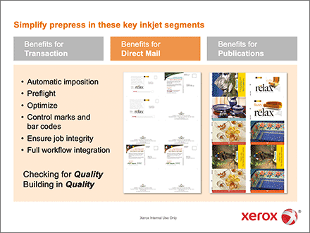 Xerox FreeFlow Core Sales Training screen