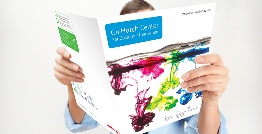 Xerox Gil Hatch Center publication brochure