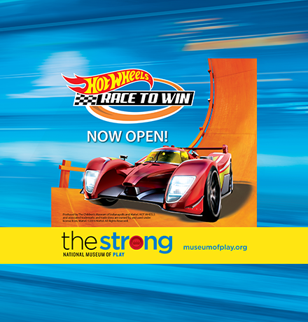 The Strong Hot Wheels—Race to Win Exhibit Digital Ad