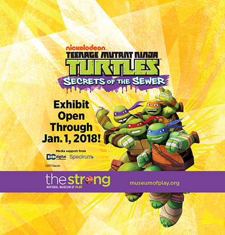 The Strong Teenage Mutant Ninja Turtles—Secrets of the Sewer Exhibit Digital Ad