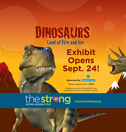 The Strong Dinosaurs—Land of Fire and Ice Exhibit Digital Ad