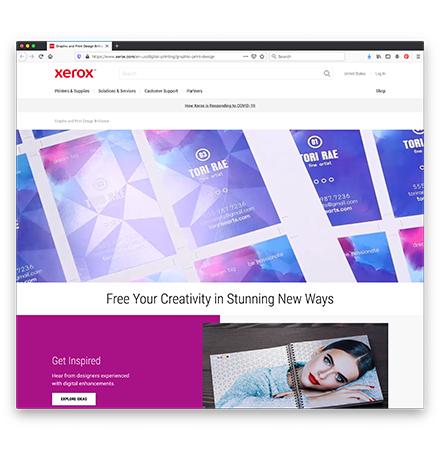 Xerox Creatives Web Page 1