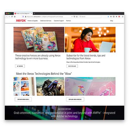 Xerox Creatives Web Page 2